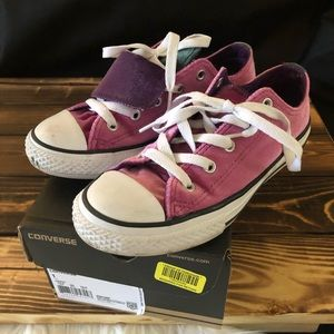 Girls Double Tongue Converse - Size 1